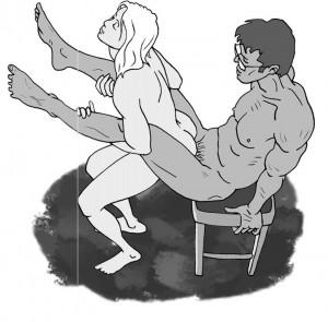 position sexuelle acrobatique ruee de la jument
