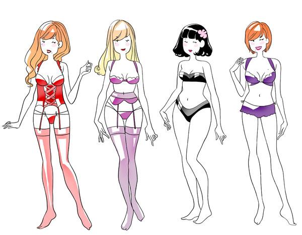 Différents styles de sous vêtements sexy